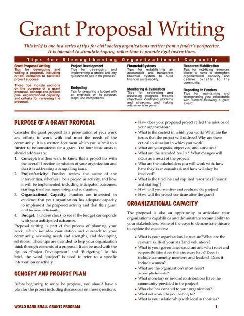 Examples Of Written Grant Proposals For A Reentry Program Grant