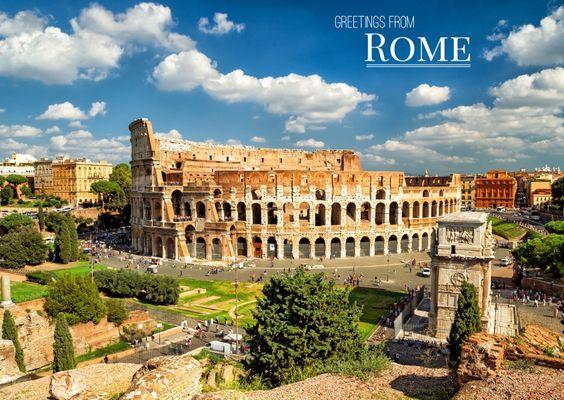 Rom – Kolosseum | Urlaubsgrüße | Echte Postkarten online versenden…