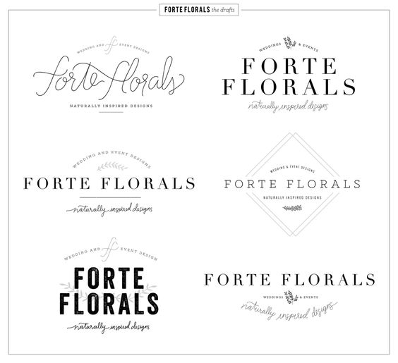 Forte Florals Logo Design and Branding concepts — 23&9 Creative