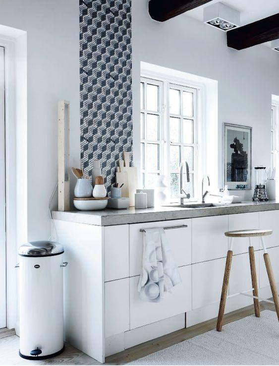 Une seule cuisine pour trois styles différents.