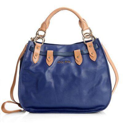Miu Miu ::  1783 miu miu New Napa Leather Tote Bag 1783 Blue