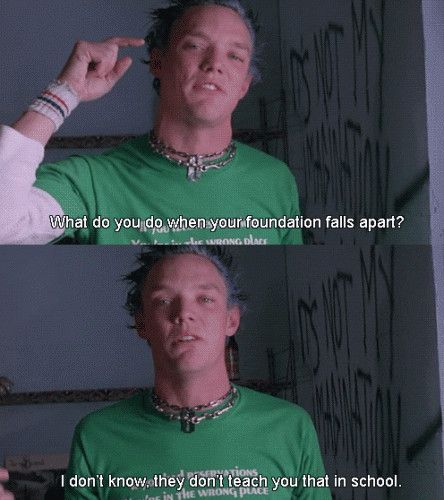 SLC Punk an amazing movie. I've prolly watched it 3milliontrillionthousandshundreds of times. He's right.