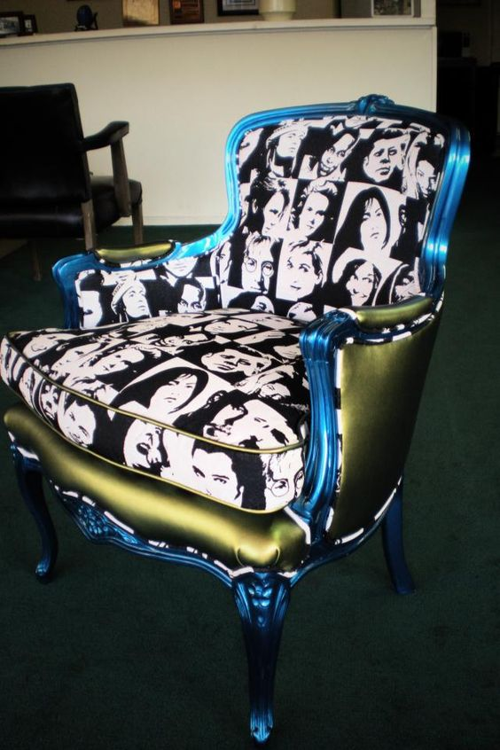 $2500 - Beautifully Refurbished Antique Chair with some Style!!! funkyyy.