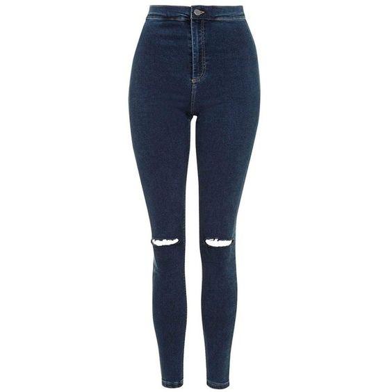 Petite Topshop 'Joni' Distressed Crop Skinny Jeans (£35) ❤ liked ...