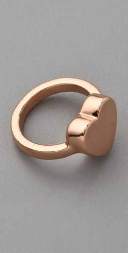 Marc by Marc Jacobs  Mini Charm Heart Stacking Ring  in Rose Gold (I love rose gold)
