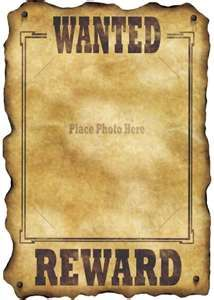 Wanted posters for antagonists in stories (The Crucible--accused ...