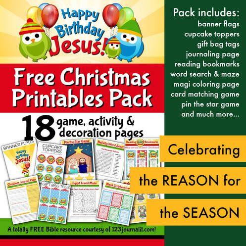 Free Printable Happy Birthday Jesus Party Decorations And