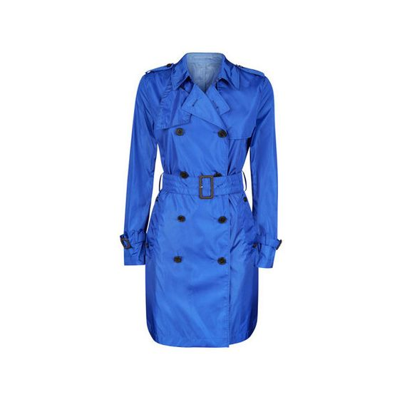 Aquascutum Voyager Mac (19,765 MKD) ❤ liked on Polyvore featuring outerwear, coats, cobalt, aquascutum coat, double breasted trench coat, long sleeve coat, blue trench coat and aquascutum