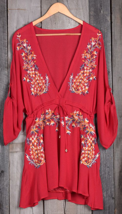 If you want to win best dressed, make sure you've got this one.No matter how you wear it, the Embroidered Plunging Dress will always be the chic choice!
