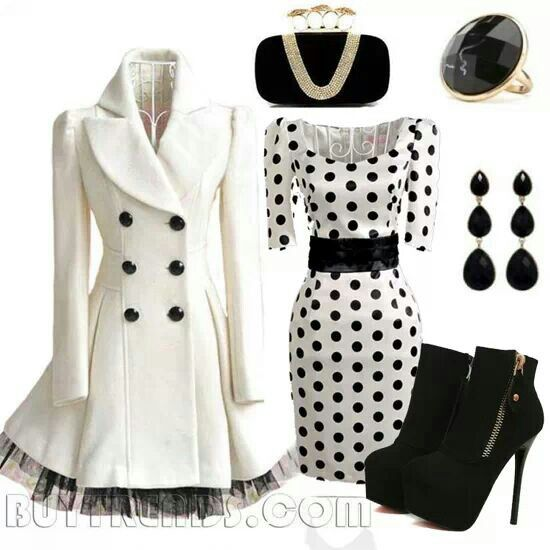 Black &amp White Winter Selections including a stylish white coat