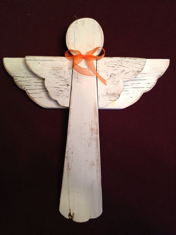 Rustic Wooden Angel For The Home Pinterest Wings