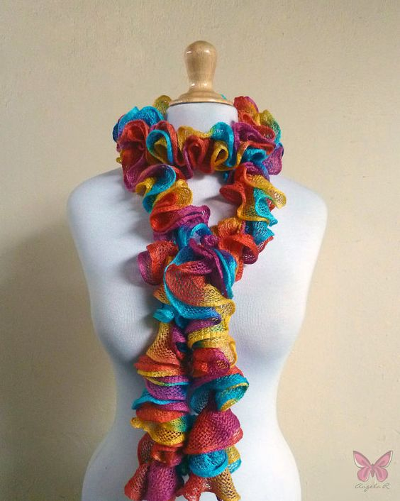 Ruffled scarf  CARNIVAL  cowl neckwarmer by OriginalDesignsByAR, $29.95