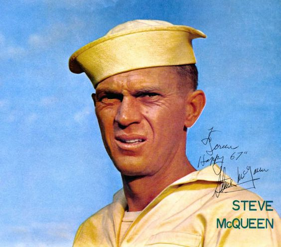 Steve McQueen from 'The Sand Pebbles', signed pic.