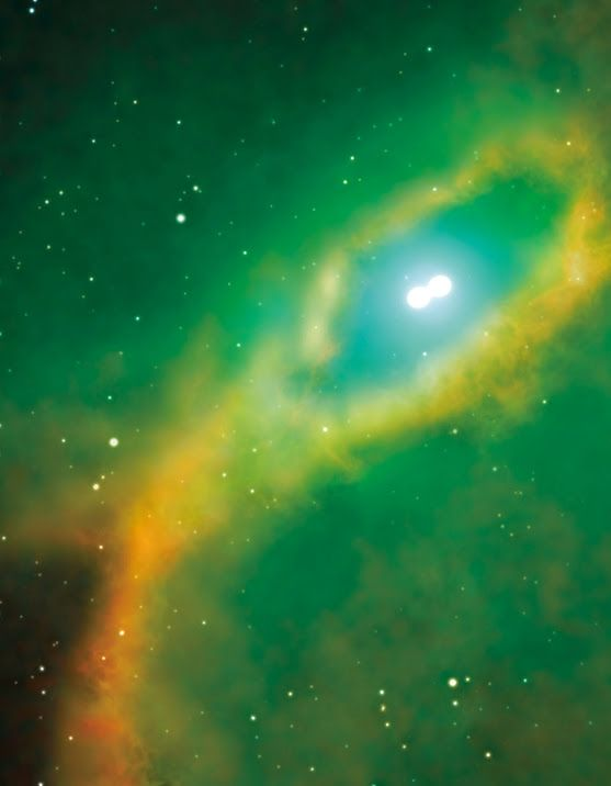 Astronomers Discover Close Pair of White Dwarfs in Center of Planetary Nebula Henize 2-428 - http://www.sci-news.com/astronomy/science-pair-white-dwarfs-center-planetary-nebula-henize2428-02478.html #science #space #astronomy #nebula #planetarynebula #vlt #eso