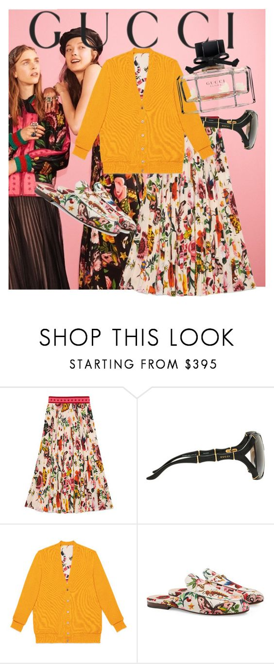 """""""Presenting the Gucci Garden Exclusive Collection: Contest Entry"""" by kitchqueen ❤ liked on Polyvore featuring Gucci and gucci"""