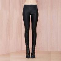 Reloj mujer primavera y otoño Punk Rock estilo de moda Sexy Fitness gótico Leggings de cuero negro poliéster sentimiento leggins