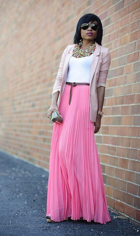 blazer maxi skirt wear to work maxis