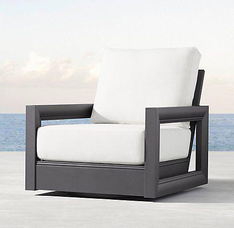 Restoration Hardware Outdoor Swivel Chair