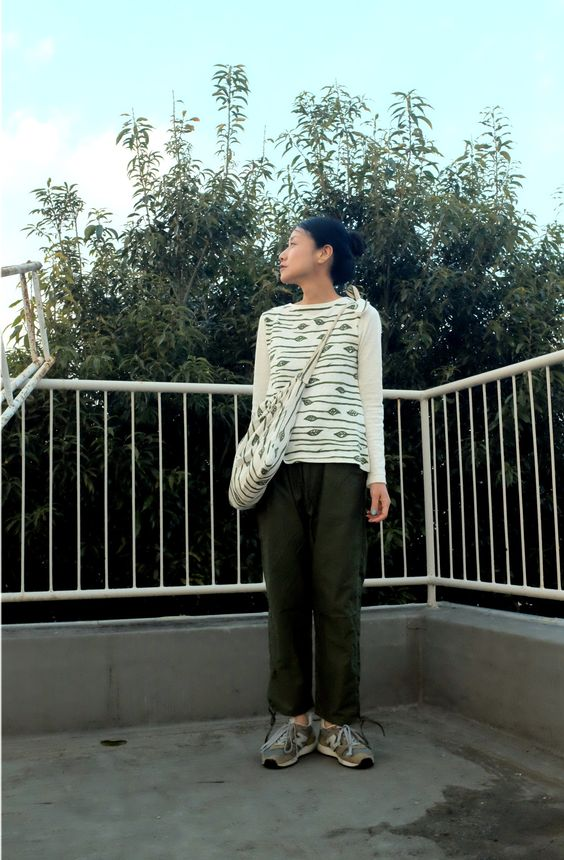 75clothes by studio75.2015 S/S New. flag pants & Border Leaf Bag Small Circle of Friends Satsuki designs. http://75clothes.tumblr.comhttp://www.75clothes.com/ https://www.facebook.com/75clothes http://www.scof75.com