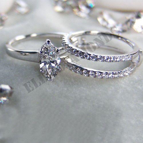 14k White Gold Over New Women Fashion Wedding Anniversary Wrap