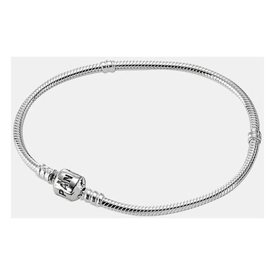 PANDORA Sterling Silver Charm Bracelet (4.470 RUB) ❤ liked on Polyvore featuring jewelry, bracelets, pandora, accessories, eleanor, sterling silver, sterling silver charm bracelet, sterling silver bangles, sterling silver jewelry and pandora charms