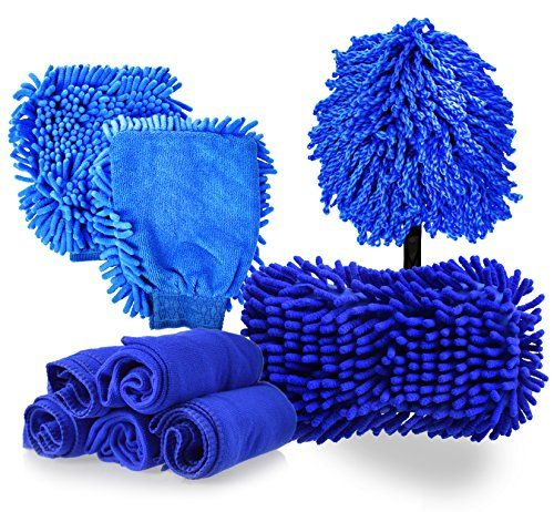 for Interior and Exterior of Cleaning Car S-POINT Car Wash Kits with Car Wash Mitt Car Wash Sponge Car Cleaning Gel Mud
