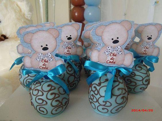 Maçã Urso marrom e azul