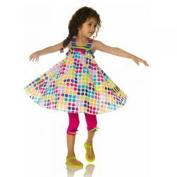 2015 Spring/Summer Fizzy Pop Sundress and Leggings Set by #deuxpardeux  This charming polka dot sundress comes with matching leggings, embellished with adorable little bows!  #3littlemonkeys