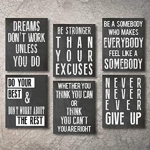 Inspirational Wall Art Poster Prints Quote Positive Affir Https Www Amazon Com Dp B07s1cw73 Wall Art Quotes Motivational Wall Art Art Quotes Inspirational