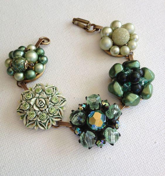 Repurposed bracelet bracelet vintage by ChicMaddiesBoutique