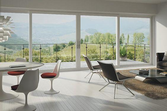 La gamme des baies coulissantes de OKNOPLAST est la solution pour réaliser de grandes surfaces vitrées et laisser entrer un maximum de lumière.  http://www.oknoplast.fr/ #fenêtre #baiecoulissante #deco #architecture #design