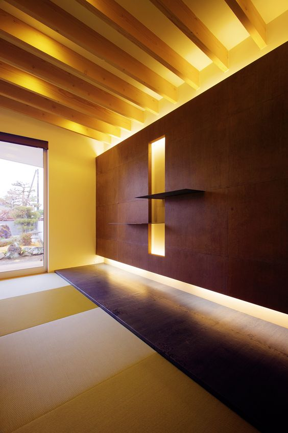 Modern japanese tatami room by tomiken japan interior - Tatami japones ...
