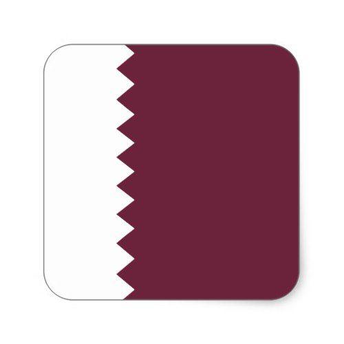 Qatar Flag Sticker Zazzle Com Qatar Flag Custom Stickers Flag