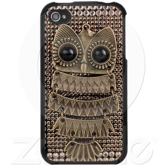 Cute Owl iPhone 4 Case from Zazzle.com, found on polyvore.com... I have a problem with owls