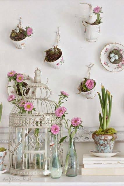 Qu triste cuando se nos descompleta esa vajilla tan - Decoracion de jarrones con flores artificiales ...