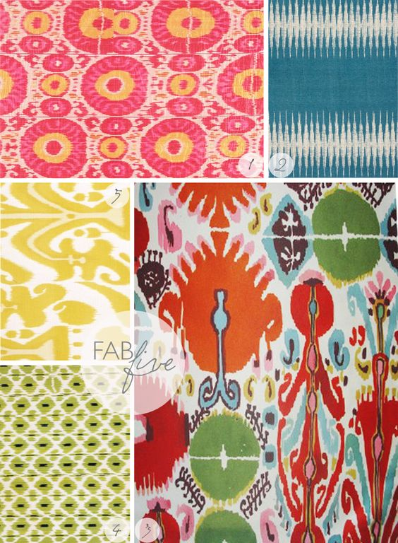 Fab Five: Vibrant Ikats | CLOTH & KIND: