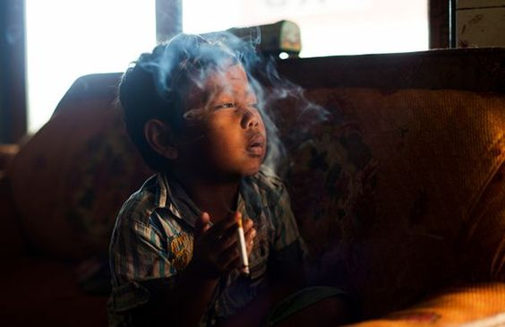 Photographer Documents Underage Smoking In Indonesia