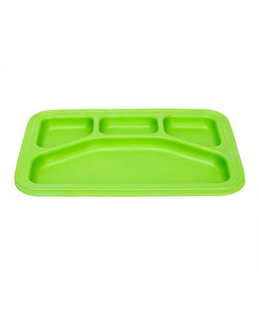 Set of 2 Divided Trays by Green Toys  - made of recycled milk jugs.