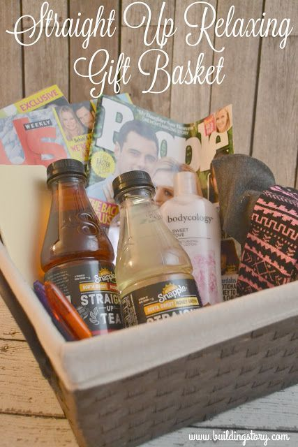 Straight Up Relaxing Gift Basket, Snapple® Straight Up™ Tea, Snapple Tea, DIY gift basket,  Relaxing Gift Basket #ad  #TeaStraightUp #CollectiveBias
