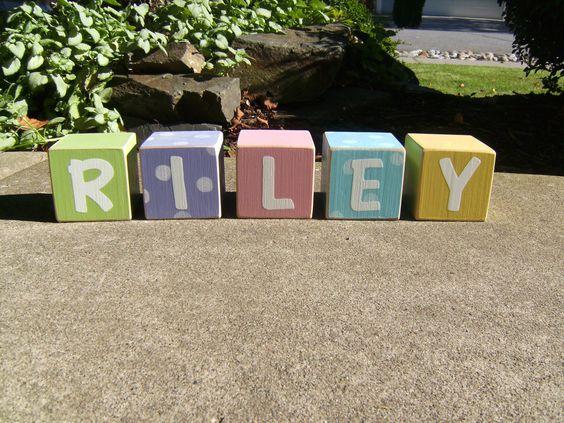 Custom Baby name blocks