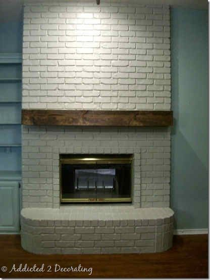 Mantels fireplaces and mantles on pinterest - How to make a brick fireplace look modern ...