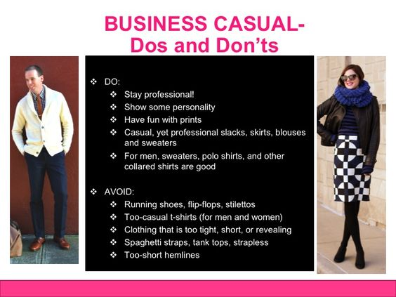business casual dress code dos and donts style