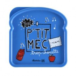 Boite à Sandwich DOMAC P'tit mec - bleu