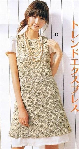 Вязание спицами платья для женщин на осинке