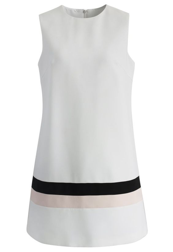 Best of Basic Shift Dress in White - Retro, Indie and Unique Fashion
