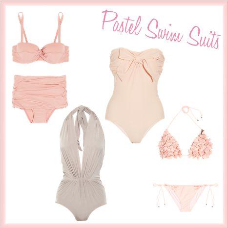 Friday's Fancies - Pastels (Swim Suits)