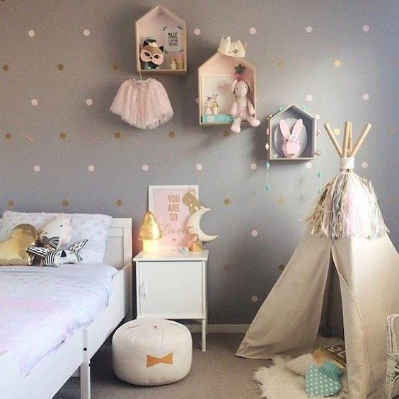 Toddler girl bedrooms girls bedroom and teepees on pinterest Baby room themes for girl