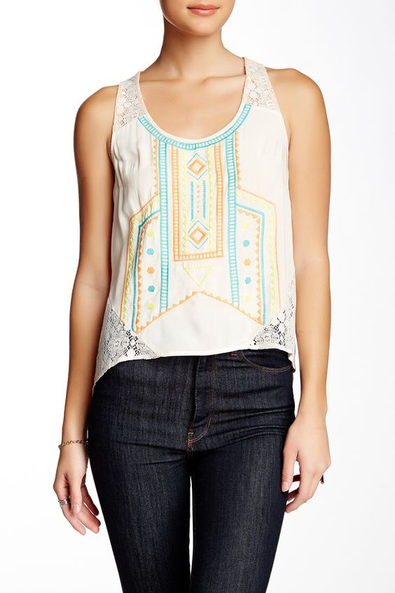 Embroidered Tank by Flying Tomato on @HauteLook