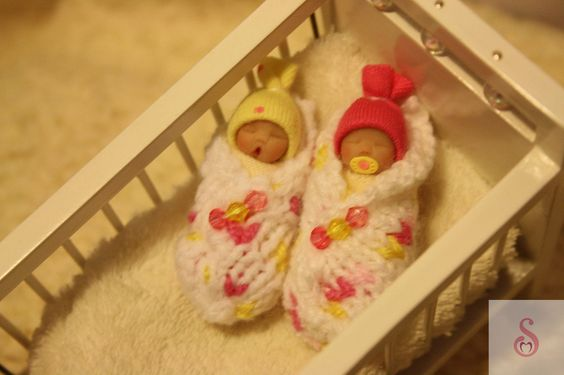 OOAK Bundle Baby Twins 12th Doll House Miniature Display Gift Artisan Sheryl C | eBay