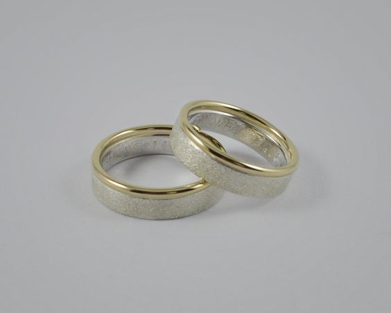 """Gold-Silber / Partnerringe  / Trauringe """"Juntos """"  von SOLO 1 für die Liebe auf DaWanda.com"""
